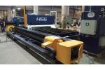 Instalace stroje HS-G3015E v litevské společnosti UAB Autosabina Metal.